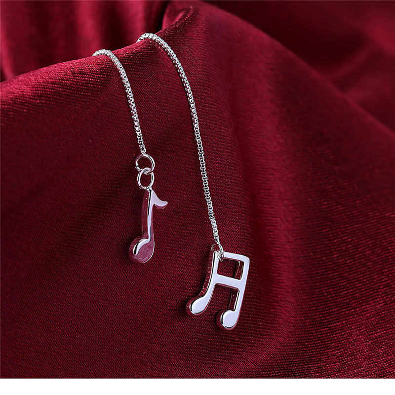 2017 NEW ARRIVALS top quality music note earrings lovely cute drop