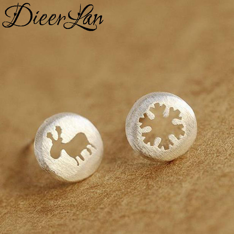 2017 New Arrivals 925 Sterling Silver Round Hollow Earrings For