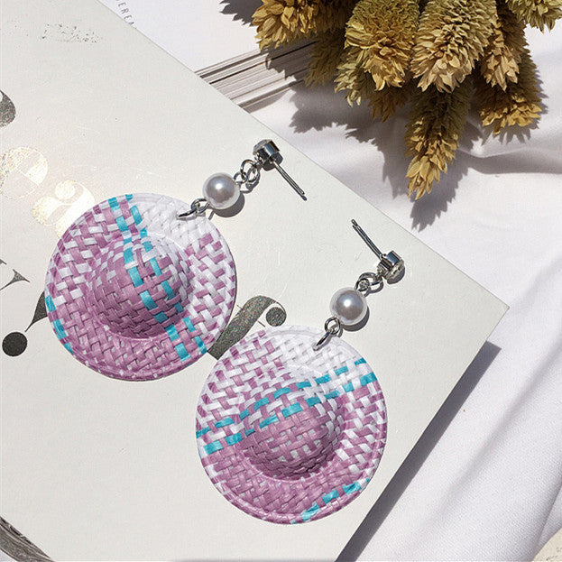 2017 Holiday Style Lovely Dangle Earrings Personality Weave Hat Shaped
