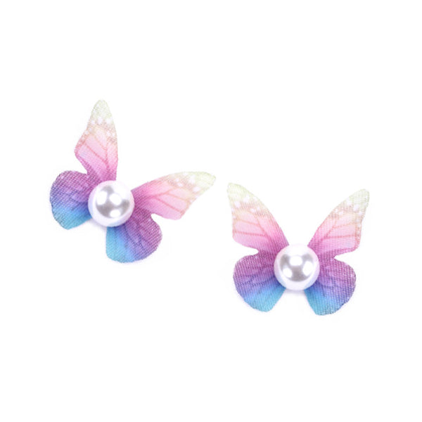 2017 Cute Studs Color Sweet Colorful Stainless Steel Stud Earrings Cotton Real Pearl Butterfly Stud Earrings Women Duftgold 8652601-multi for $7.99 USD  earings, fine-jewelry, Jordan's Jewlery, new-arrivals, rings, under-10