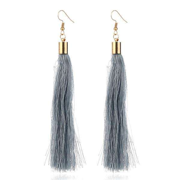 16 Colors Bohemia Trendy Long Rope Tassel Earring India Ethnic
