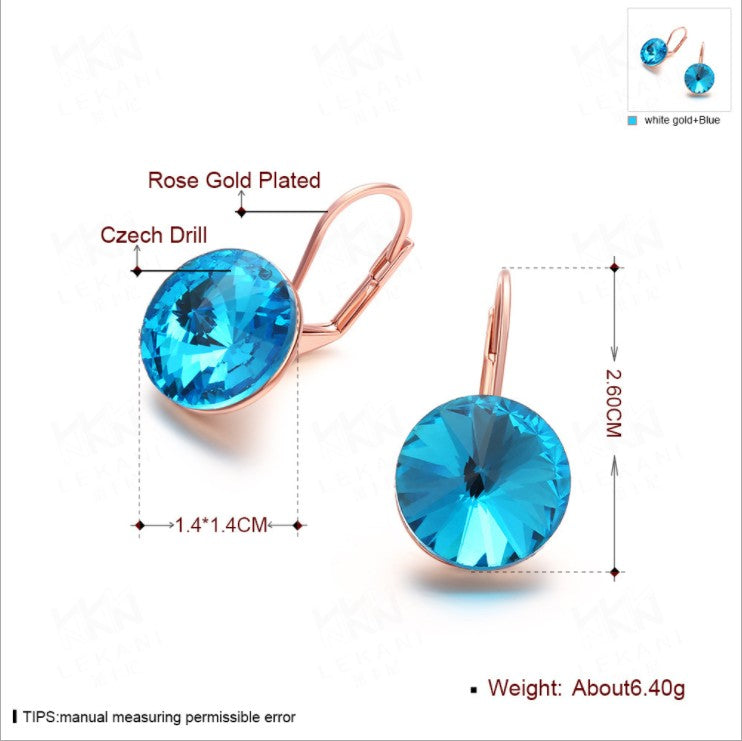 2017 New Crystal From Swarovski Earrings For women 925 Jewelry fashion