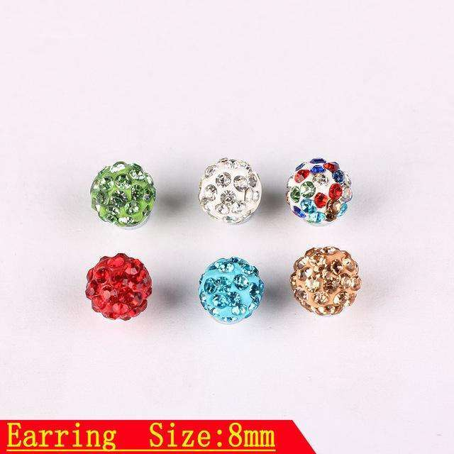 12 Pair Women's Men Elegant Charm Crystal Ear Stud High Quality