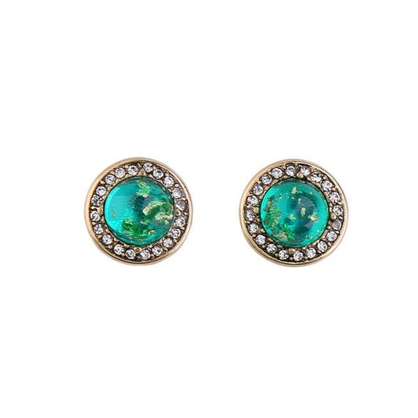 2017 1 Pair 3 Colors Round Rock Crystal Design Stud Earring Mix Color Size Gift For Women Girl Wholesale 8653427-green for $5.99 USD  earings, jewelry-sets-and-more, Jordan's Jewlery, new-arrivals, rings, under-10