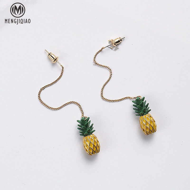2017 Fashion Korean Personality Pineapple Boucle D'oreille Pendante