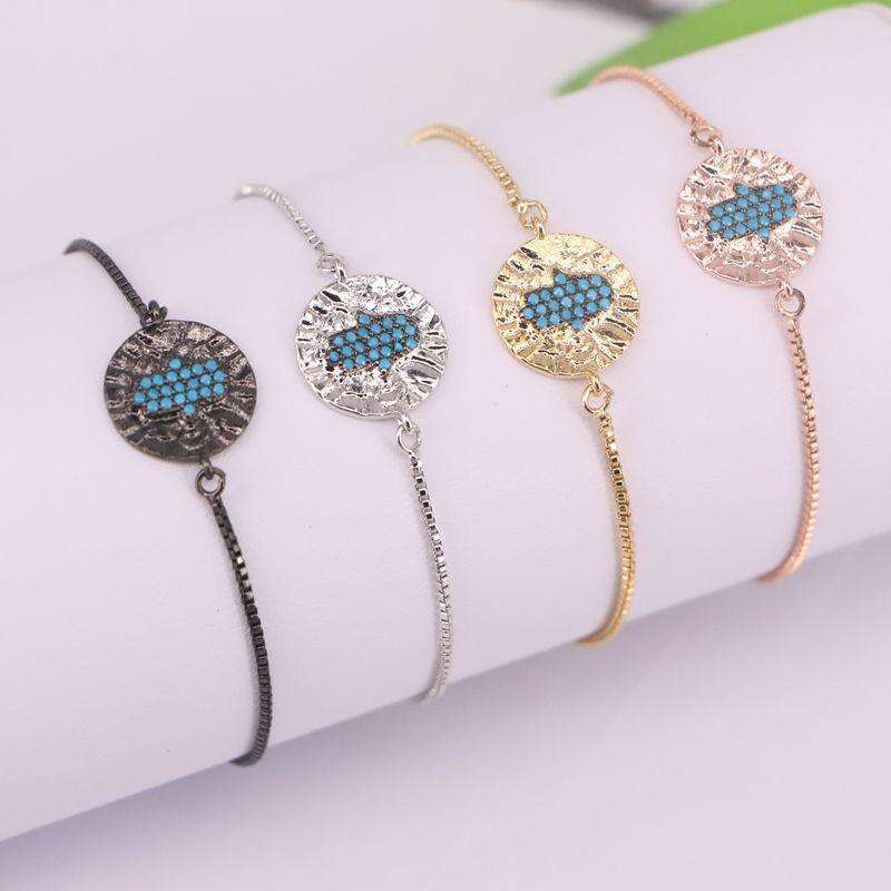 10Pcs New Simple Designer Micro Pave CZ Hand Palm Charm Bracelet