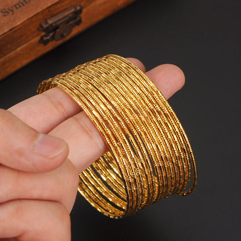 super 24k Gold Women Gold big Dubai Bride Wedding Ethiopian Bracelet