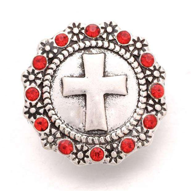 10pcs/lot Xinnver Snap Jewelry Cross Rhinestone Snap Buttons Fit