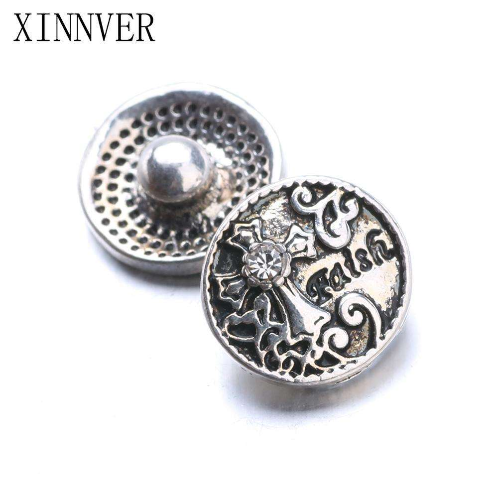 10pcs/lot Faith Cross Xinnver Snap Jewelry Metal 12MM Snap Buttons Fit