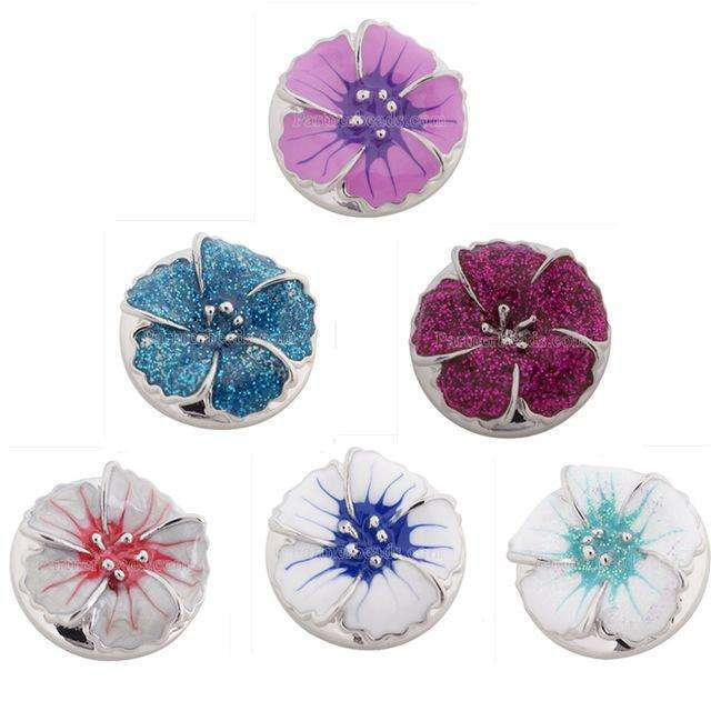 10pcs/lot wholesale new fashion 18-20mm flower snap button with