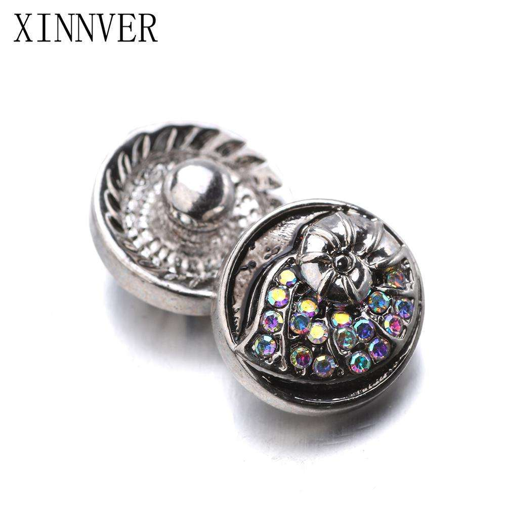 10pcs/lot Xinnver Snap Jewelry Color Crystal Conch Bead Metal 12MM