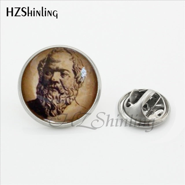 2017 New Design Philosophy Metal Brooch Pin Fashion Jewelry Socrates