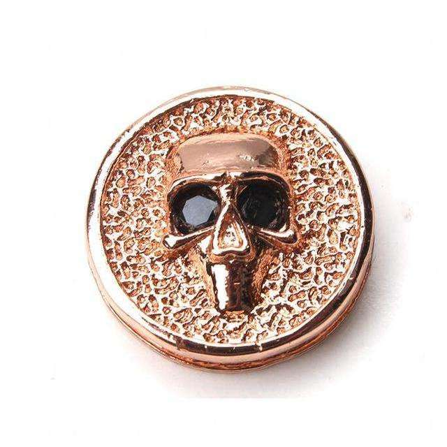 1pc 14*14mm copepr skull charms hole size 2mm gold silver rose gold
