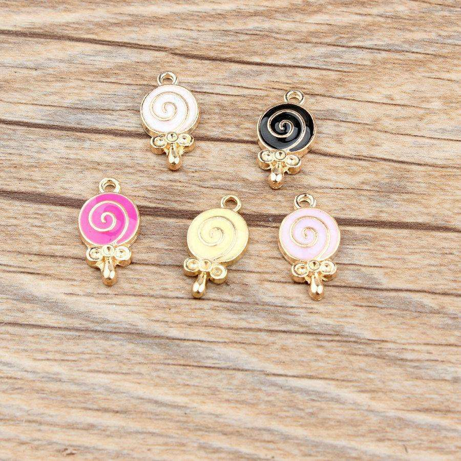 10*19mm 20pcs cute Lollipop charms Alloy Pendant fit for necklaces