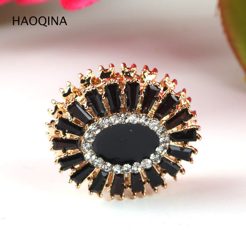 HAOQINA strong Magnet Flower Buckle 12PCS Woman Wedding Broches oval