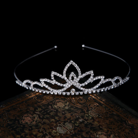 Wedding Party Bridal Tiara Princess Crown Headband Rhinestone Hair