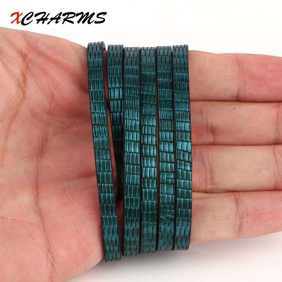 100*0.5cm Brick Pattern PU Leather Cord & Rope Diy Jewelry Findings