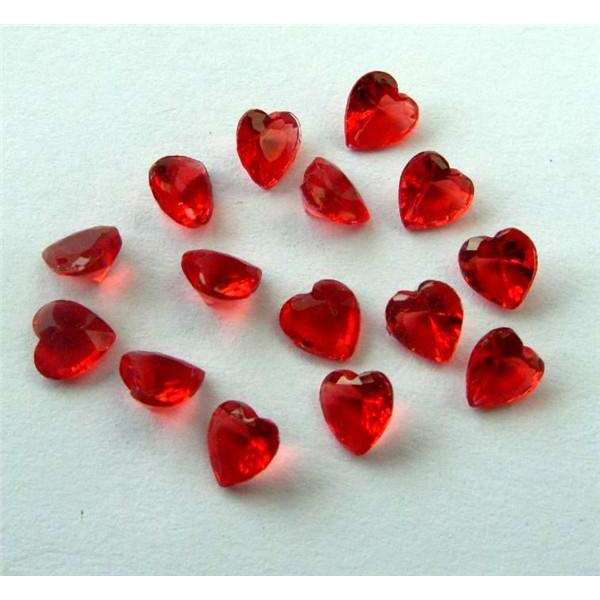 10pcs heart shape 5mm 12 months birthstone charms floating charm for
