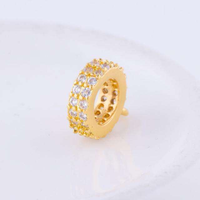 1pc Gold Rose Gold Silver Color Bail beads Spacer Beads Fit European
