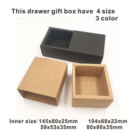 50pcs/lot Kraft Brown Wedding Party Gift Boxes Handmade