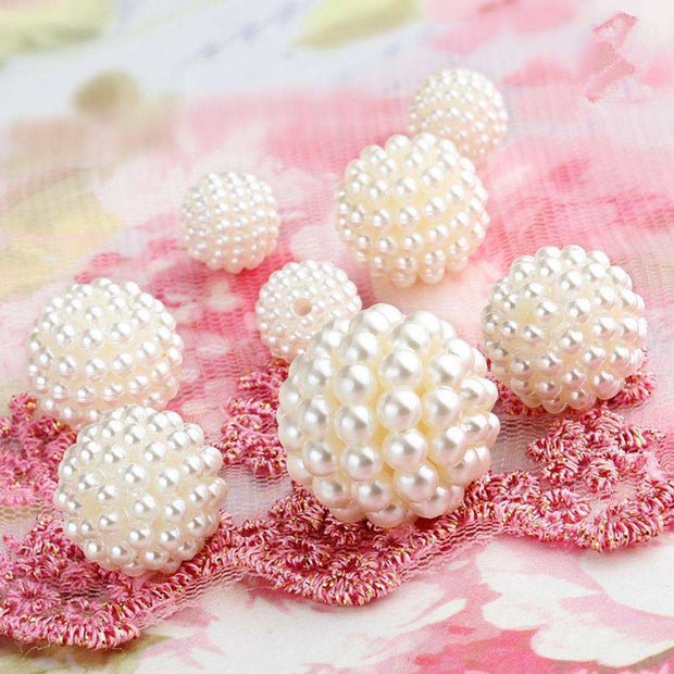 10,12,16,18,20,25mm Bayberry Ball Ivory Color Imitation Pearl Beads