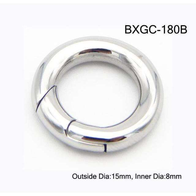 18mm 15mm Round Ring Stainless Steel Spring Lock Clasps Jewelry