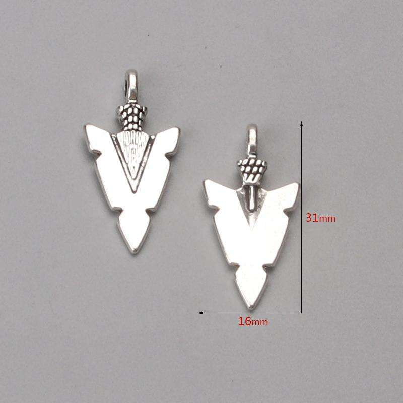 10pc/lot 31*16mm Arrow Charms Antique Silver Tone for lucky charms
