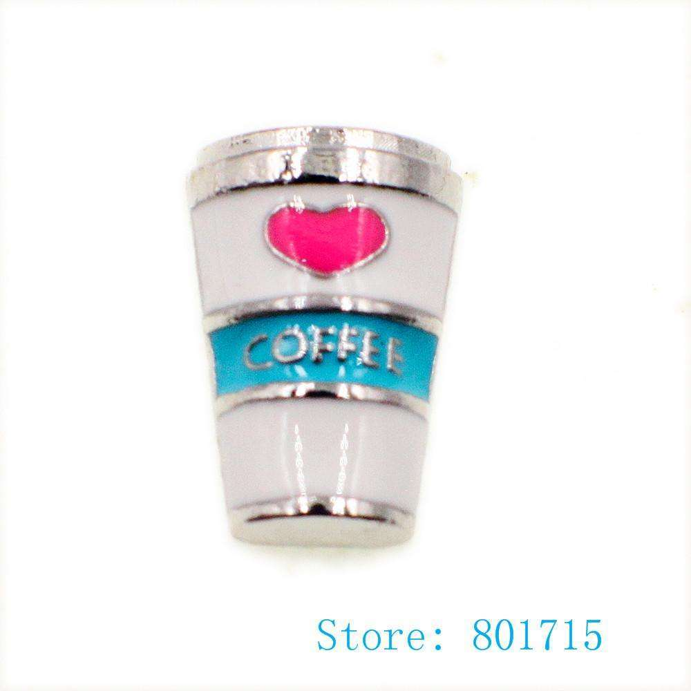 10pcs Coffee floating charm for floating living memory locket
