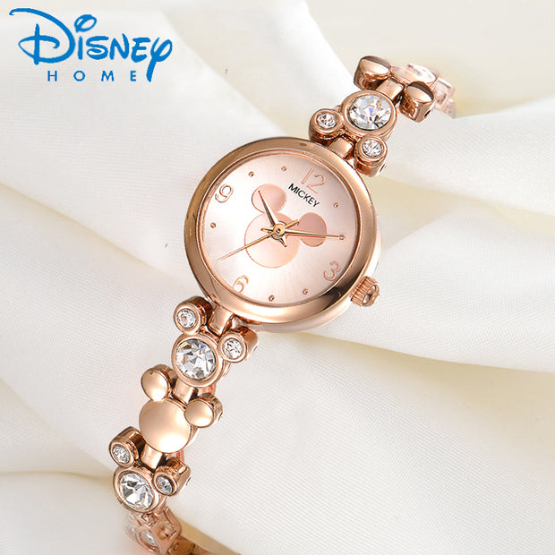 Disney Watch Women 2017 Silver Luxury Brand Fashion Rose Gold Quartz