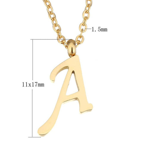 New fashion stainless steel letter necklaces pendants gold color new fashion stainless steel letter necklaces pendants gold color alfab jordans jewlery mozeypictures Choice Image