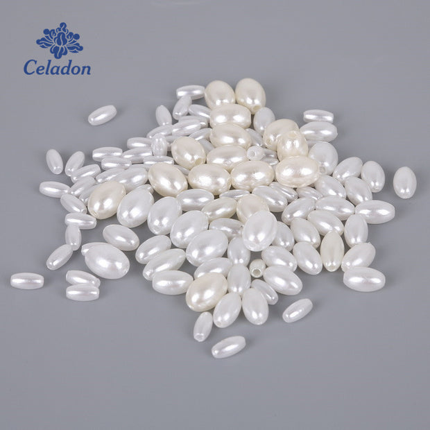 New Product White Ivory ABS Imitation Pearl Beads Rice Bead ABS