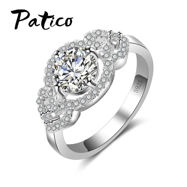 PATICO 925 Sterling Silver CZ Cubic Zirconia Classical Pave Heart