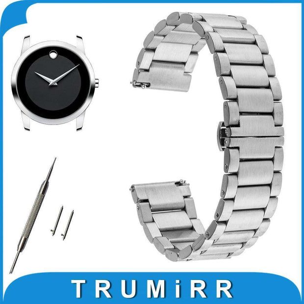 16mm 20mm 22mm Quick Release Watch Band for Movado Stainless Steel