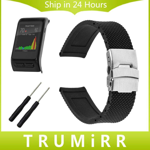 20 22 24mm Silicone Rubber Watchband +Tool for Garmin Fenix 5S 5