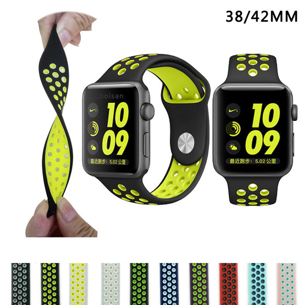 Brand Silicon Sports Band Strap for Apple Watch Nike 38/42mm 1:1
