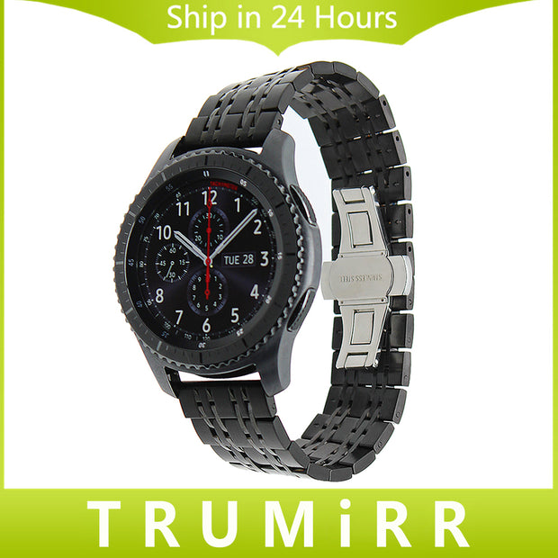 22mm Stainless Steel Watch Band for Samsung Gear S3 Classic Frontier