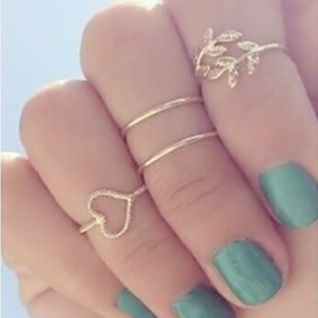 G023 New Anillos Gift Bijoux Boho Stacking Midi Finger Knuckle Rings