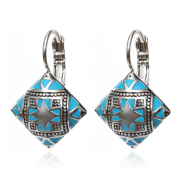 Ethnic Boho Jewelry Accessories Color Enamel Black Gold Silver Blue
