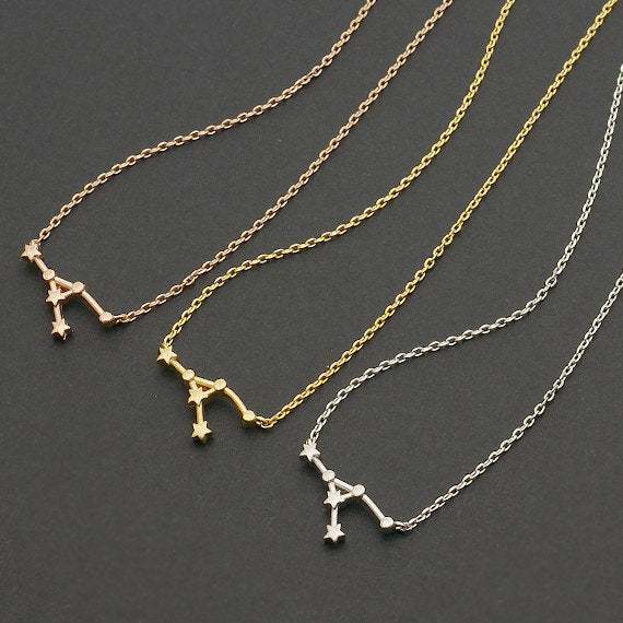 (10pcs/lot)  2015 New Arrival! Cancer Zodiac Sign Necklace Astrology Constellation Jewelry for Women Star Sign Necklace Birthday