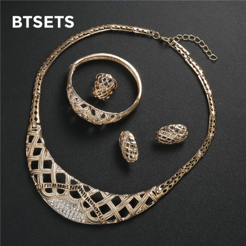 BTSETS Jewelry Sets Bridal Women African Beads Jewelry Set Vintage 14433bdbe27d