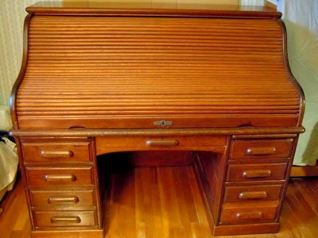 Antique Roll Top S Bankers Boston Derby Desk Oak Writing Office Table  Furniture ... - Antique Roll Top S Bankers Boston Derby Desk Oak Writing Office