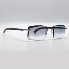 Buffalo Horn With Black Diamond Frames