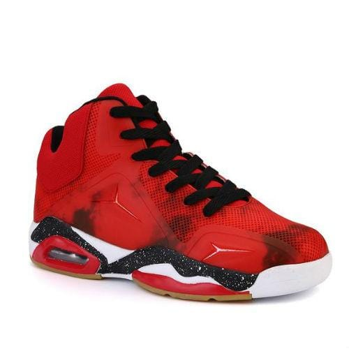 Men Large Size Basketball High Top Anti Slip Sneakers - FashionzR4U