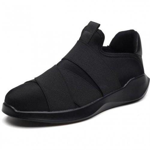 Men Casual Slip On Breathable Black Sneakers