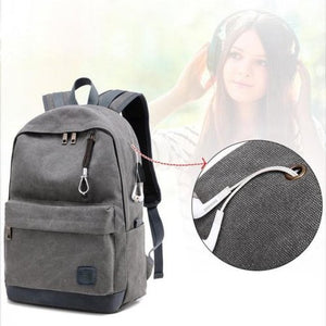 Unisex Canvas Backpack