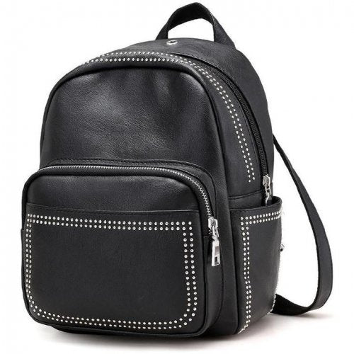 Women Stylish Small Leather Rivet Party Backpacks - FashionzR4U