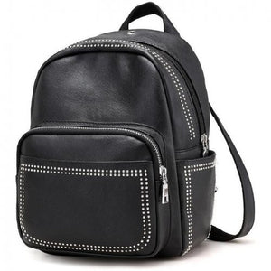 Stylish Small Leather Rivet Party Backpack