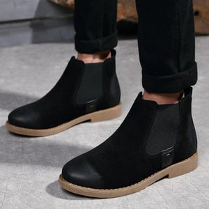 Men Chelsea Suede Leather Ankle Boots