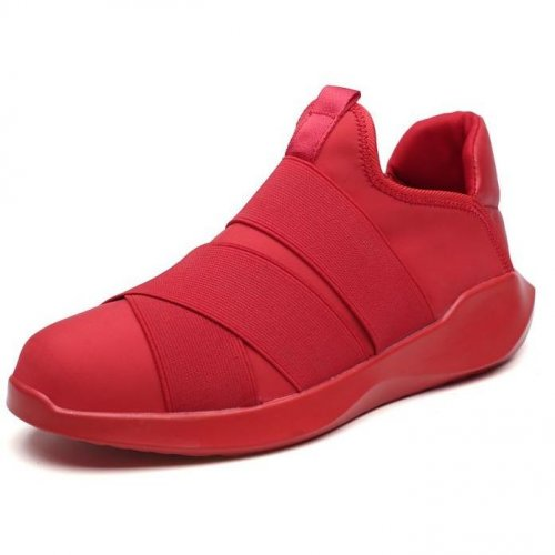 Men Casual Slip On Breathable Red Sneakers