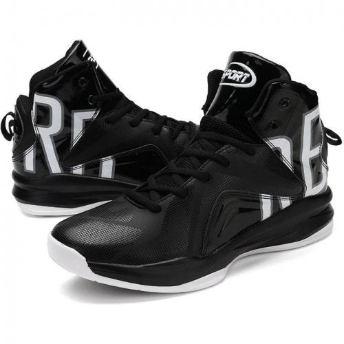 Men Lace Up High Top Basketball Sneakers - FashionzR4U